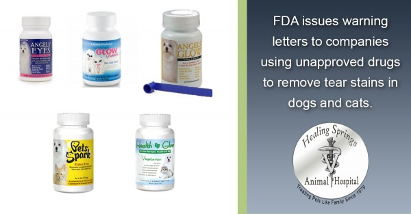 Unapproved Tear Stain Removers - FDA Warning Letter